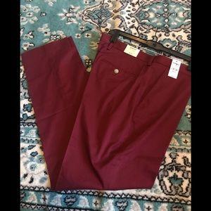 33W x 32L men's dark red express pants
